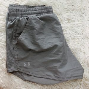 Gray under armour athletic shorts